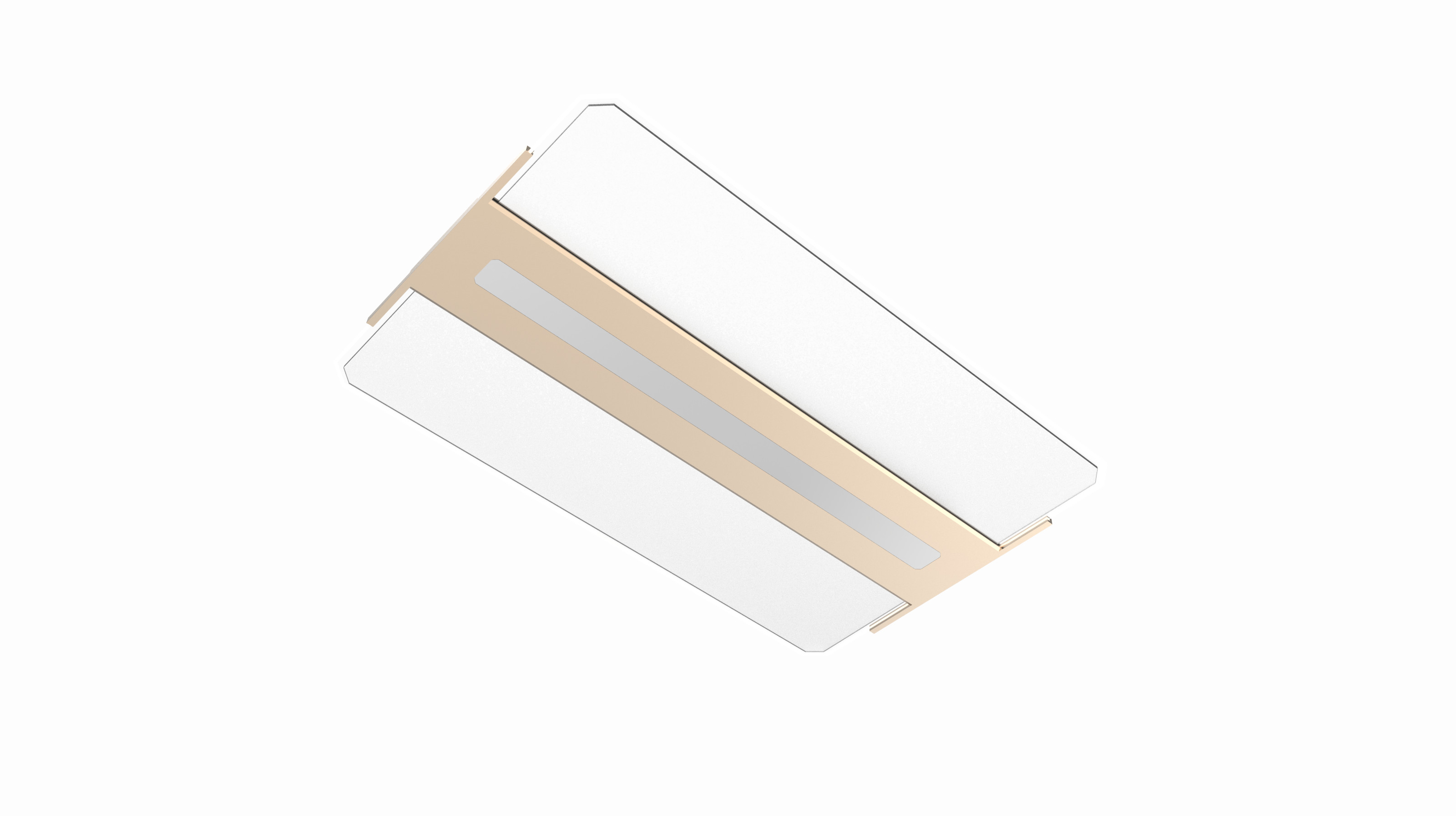 65W 6000LM Square Led Ceiling Lights With Remote Control SAMSUNG LED Ra97